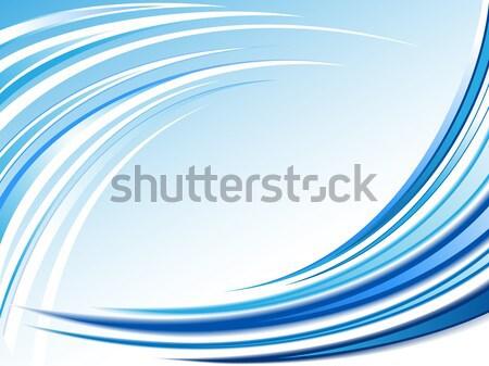 Blu onda abstract bella moderno stile Foto d'archivio © kuzzie