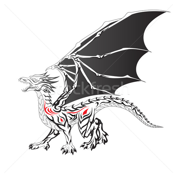 Black Dragon Stock photo © kuzzie