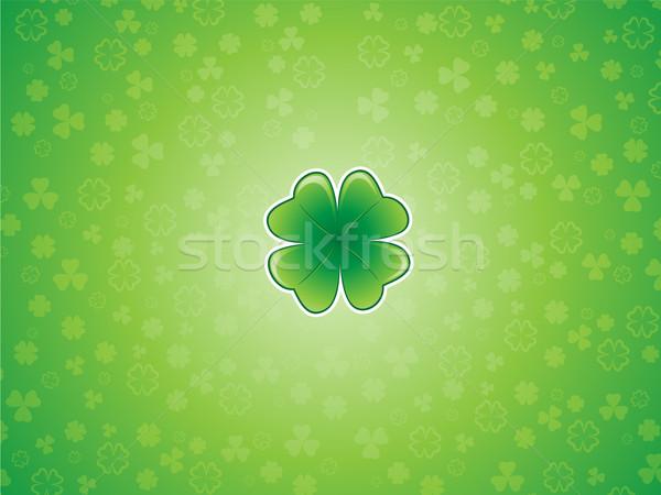 Shamrock zielone streszczenie projektu tle sztuki Zdjęcia stock © kuzzie