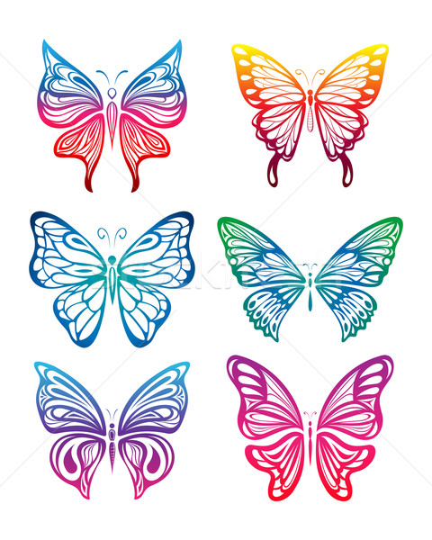 Colorful Butterfly Collection Stock photo © kuzzie