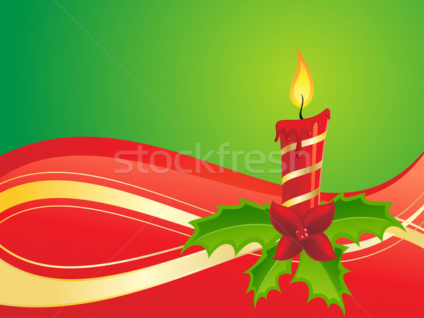 Christmas Candle Stock photo © kuzzie
