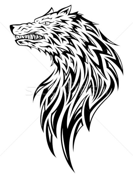 Wolf Tattoo Stock photo © kuzzie