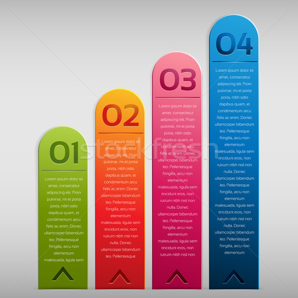 Opzione etichetta verticale infografica business internet Foto d'archivio © kuzzie