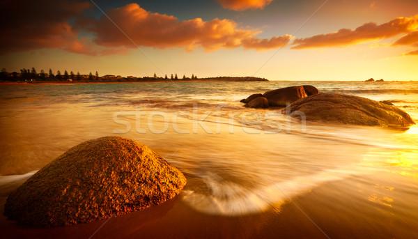 Güneş plaj gündoğumu güney avustralya Stok fotoğraf © kwest