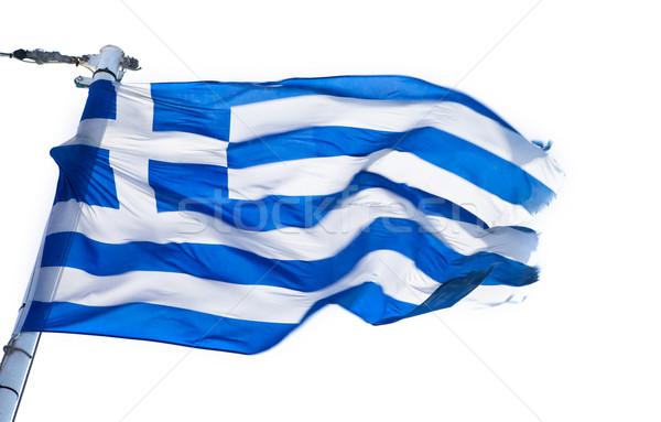 Görög zászló fehér kék utazás Európa Stock fotó © kwest