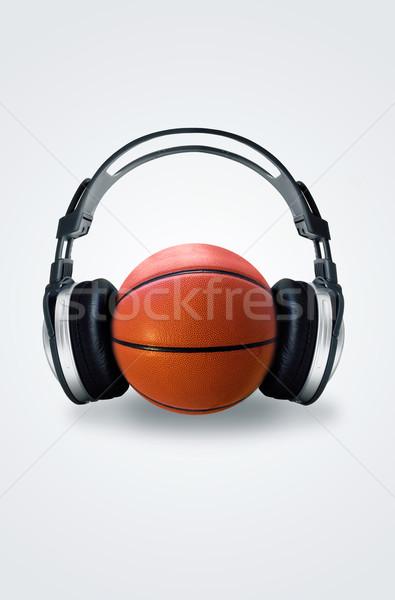 Słuchania świecie świat dźwięku tech audio Zdjęcia stock © kwest