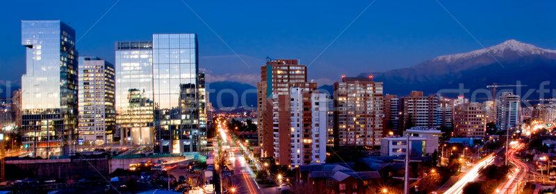 Santiago panorama ocupado tráfico Chile ciudad Foto stock © kwest