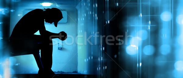 Abstract Silhouette Praying Stock photo © kwest