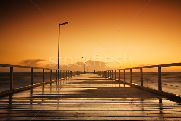 закат красивой долго пляж небе пейзаж Сток-фото © kwest