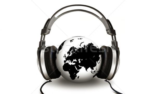 écouter monde monde sonores tech audio Photo stock © kwest