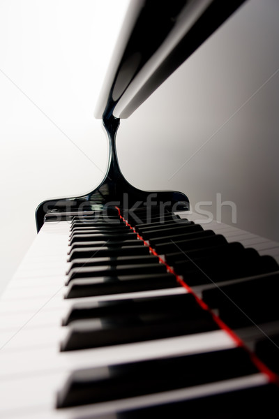Blurred Piano Keys Stock photo © kwest