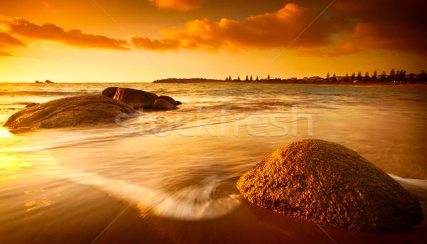 Stock fotó: Nap · tengerpart · káprázatos · napfelkelte · dél · ausztrál
