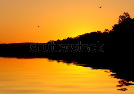 Heavenly River Sunset Stock photo © kwest