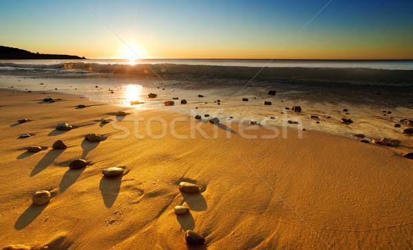 Tengerpart naplemente nap gyönyörű ausztrál természet Stock fotó © kwest