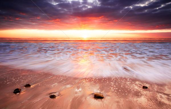 закат фары вверх поиск пляж воды Сток-фото © kwest