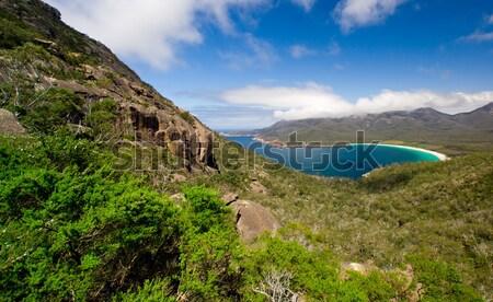 Borospohár víz felhők tenger szépség nyár Stock fotó © kwest