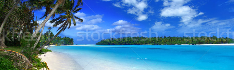 Foto stock: Panorámica · tropicales · panorama · cielo · nubes · dom