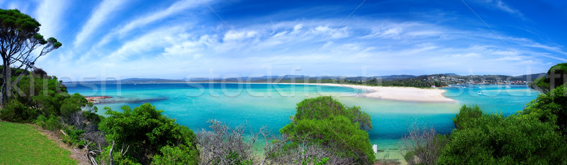 Beach Paradise Panorama Stock photo © kwest