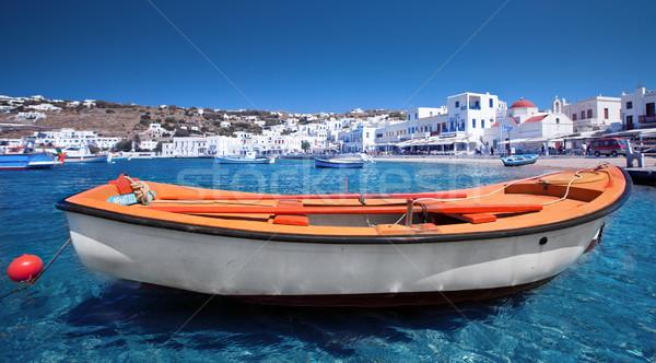 Grego maneira barco água paisagem Foto stock © kwest