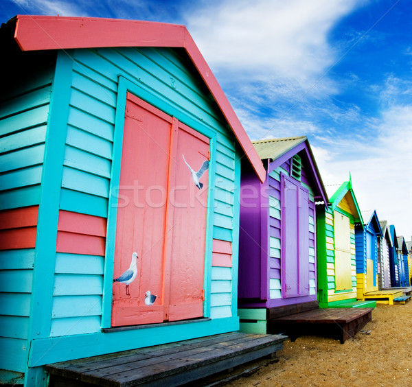 Beach Huts Stock photo © kwest
