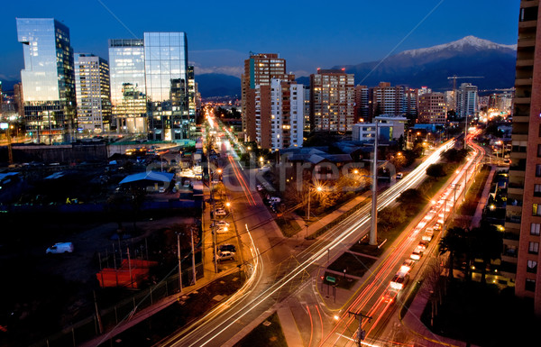 Santiago Chile occupato traffico business strada Foto d'archivio © kwest