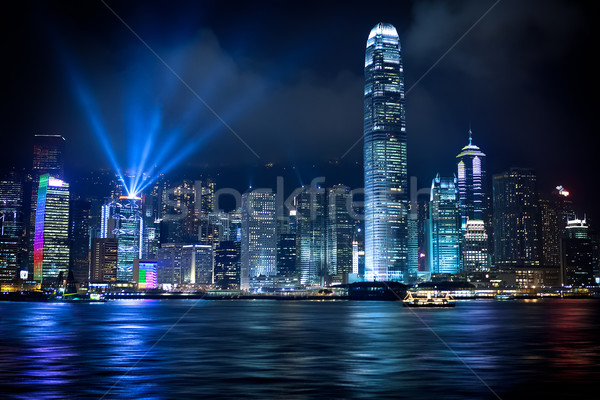 Hong Kong licht show business water Stockfoto © kwest