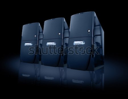 Siyah Internet Sunucu kutu grup teknoloji Stok fotoğraf © kwest
