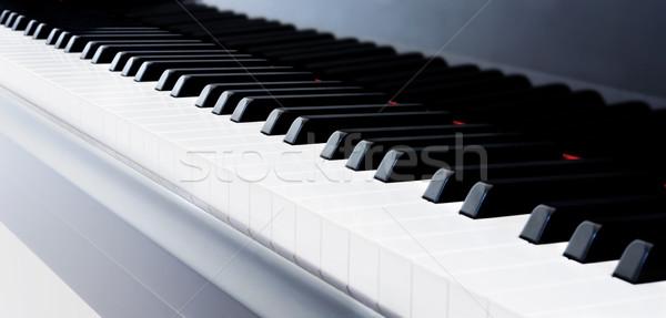 Pianotoetsen abstract vleugelpiano sleutels piano Stockfoto © kwest