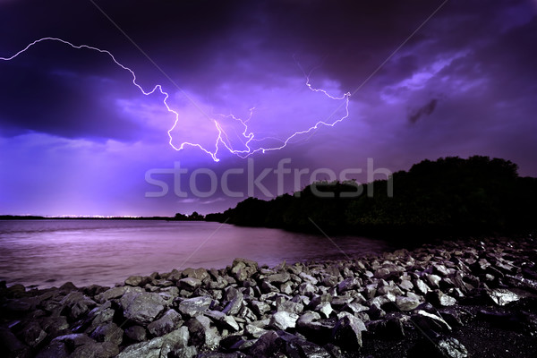 Lightning Strike Stock photo © kwest