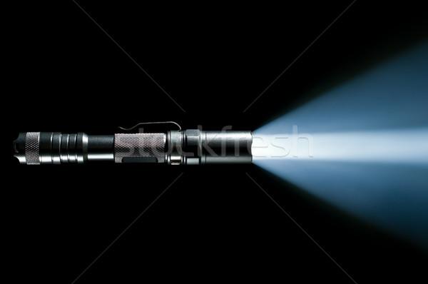 Taschenlampe Strahl Licht taktisch Polizei militärischen Stock foto © kyolshin