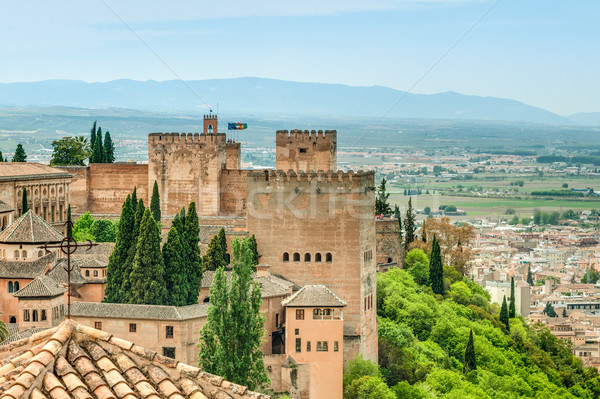 Scene of old fortress in Alhambra, Spain. Stock photo © kyolshin