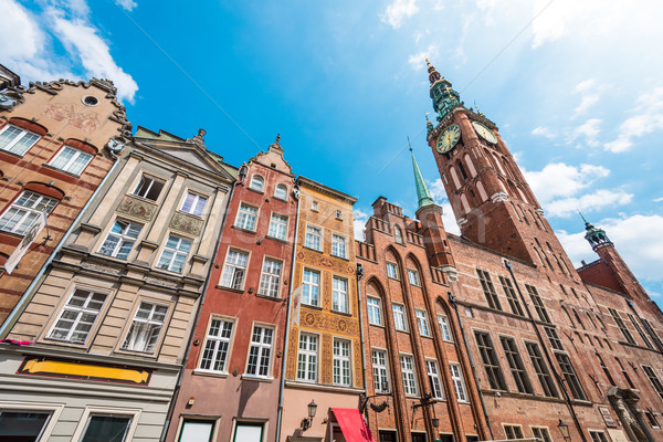 Old town houses in Gdansk, Poland, Europe. Stock photo © kyolshin
