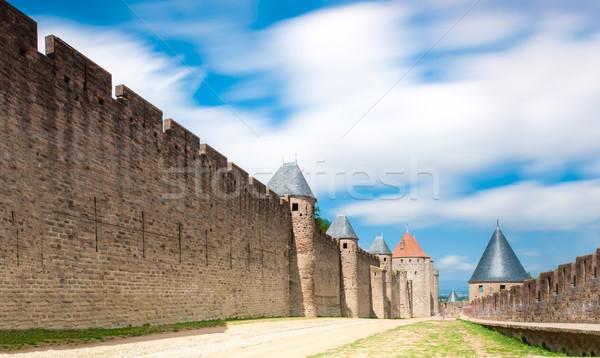 Ancient castle Carcassonne, France. Stock photo © kyolshin