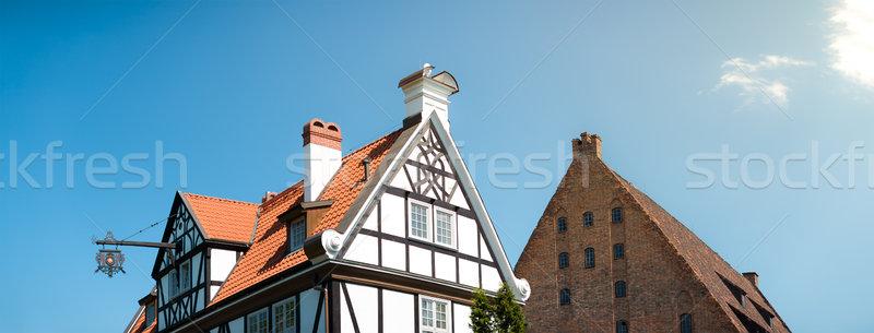 Old houses in Gdansk, Poland, Europe. Stock photo © kyolshin