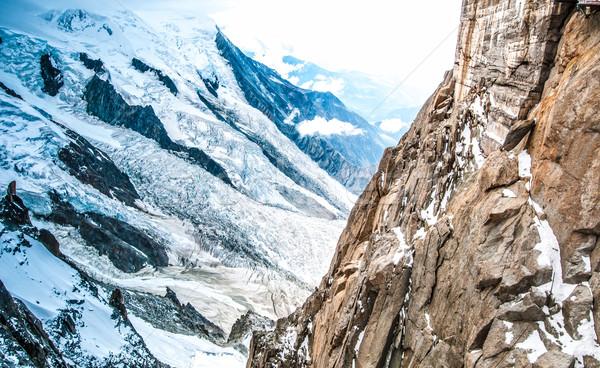 View of the Alps from Aiguille du Midi mountain. Stock photo © kyolshin