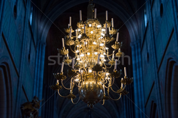 Lampada candele chiesa Svezia Europa Foto d'archivio © kyolshin