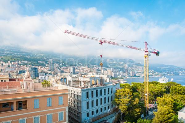 Construction grue Monaco cityscape ville nouvelle Photo stock © kyolshin