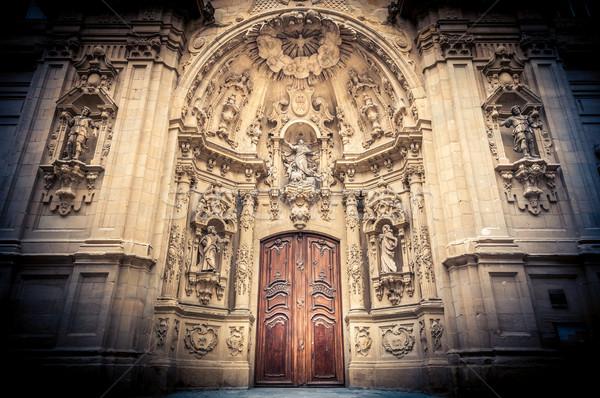 Saint Mary Basilica in San Sebastian, Spain. Stock photo © kyolshin
