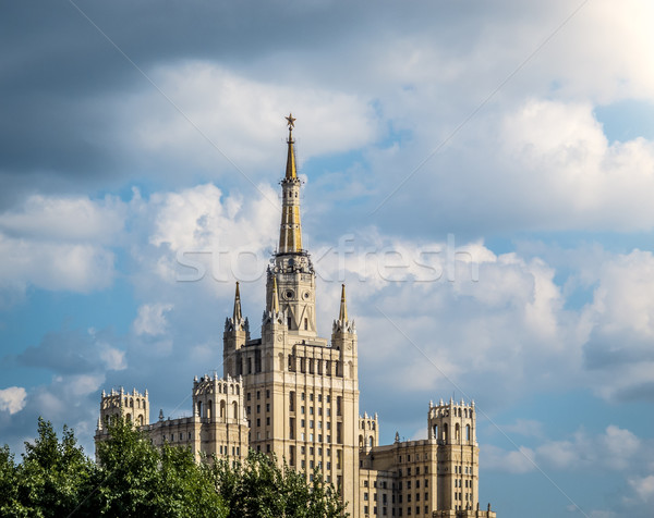 One of Moscow's famous highrises. Stock photo © kyolshin