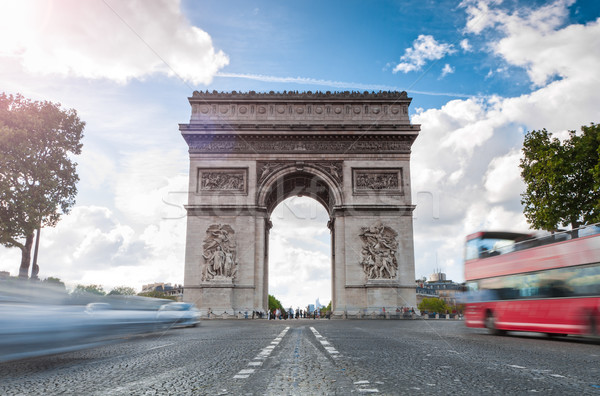Stock photo: Triumphal arch in Paris.