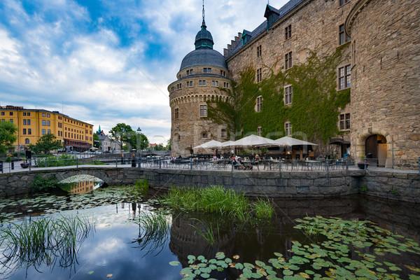 Oude middeleeuwse kasteel Zweden scandinavië Europa Stockfoto © kyolshin