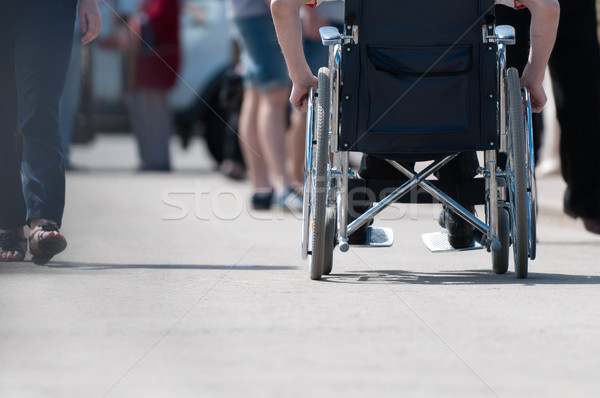 Stock photo: Disabled man on wheelchair.