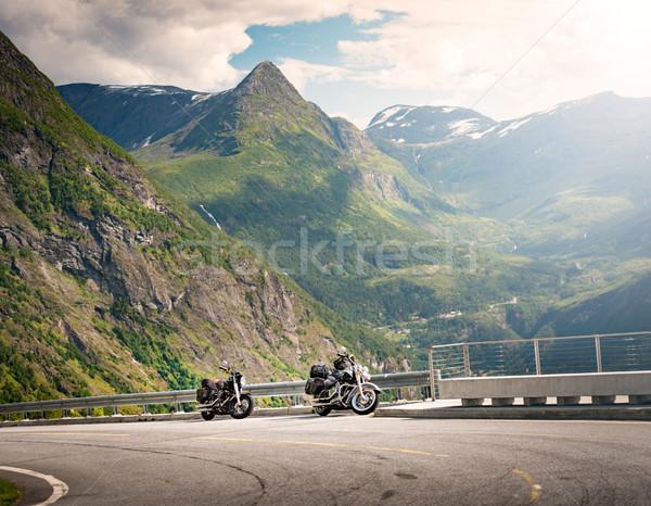 Bikes in mountains of Norway, Europe Stock photo © kyolshin
