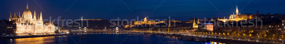 Panorama of Budapest city. Hungary, Europe. Stock photo © kyolshin