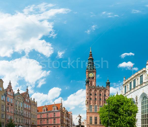 Città vecchia case danzica Polonia Europa vecchio Foto d'archivio © kyolshin