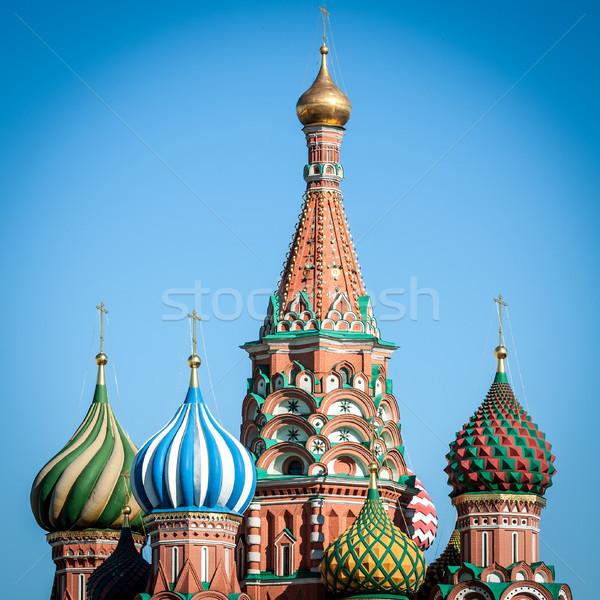 Stockfoto: St · Basil · Kathedraal · Moskou · Rusland · top