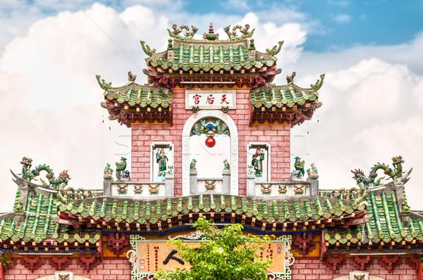 красивой фасад храма Вьетнам Азии Сток-фото © kyolshin