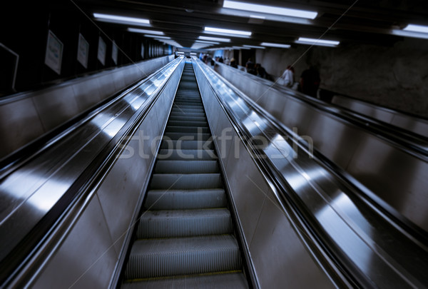 люди метро станция Европа подземных Скандинавия Сток-фото © kyolshin