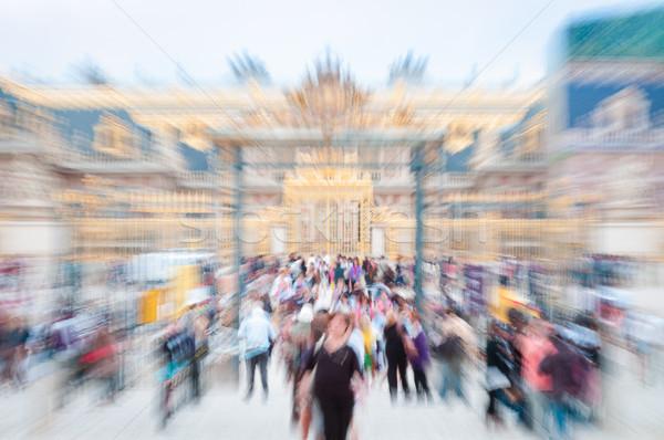 Kilátás fő- bejárat Versailles Párizs Franciaország Stock fotó © kyolshin