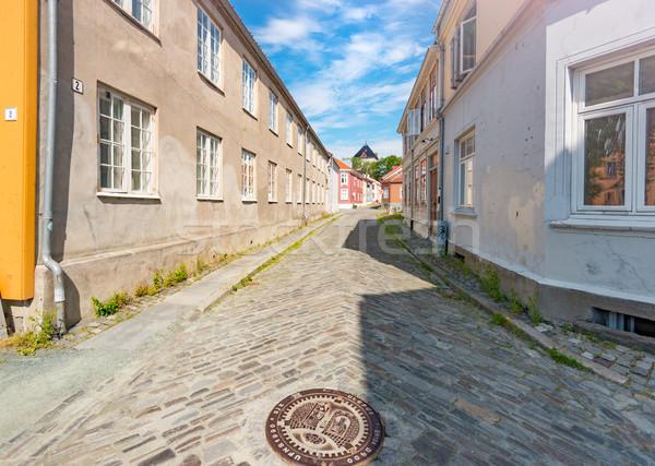 öreg városkép Norvégia Skandinávia Európa kilátás Stock fotó © kyolshin